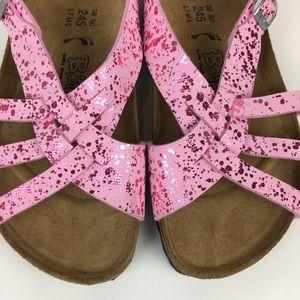 Birkenstock Birki Pink w/ Metallic Pink Splatter